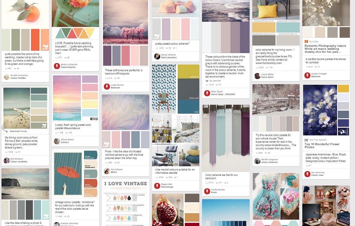 Pinterest Colour Scheme Png